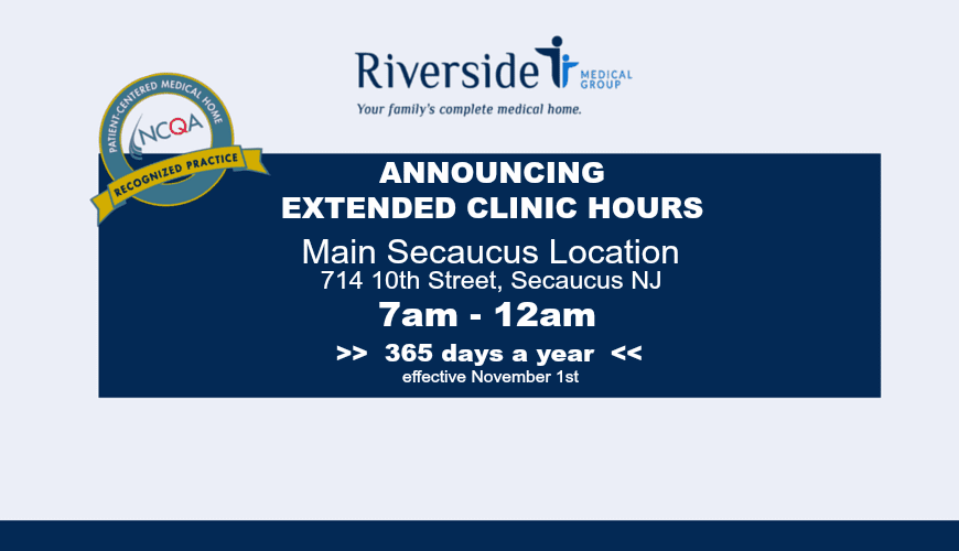 New Secaucus Clinic Hours