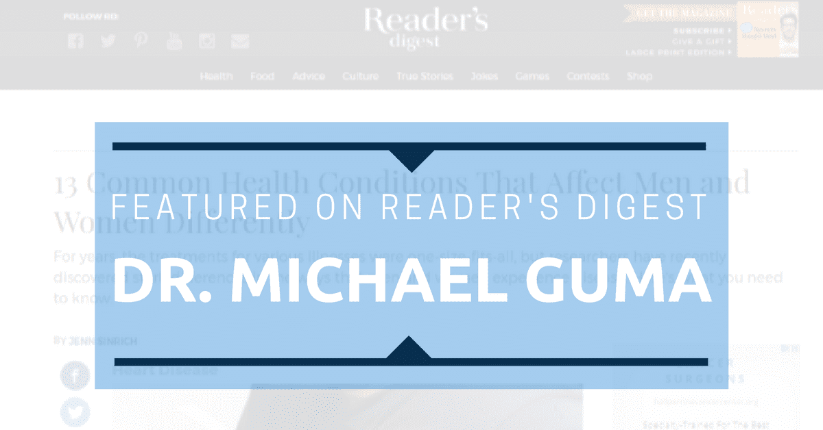 Dr. Guma Featured Nationally on Reader's Digest