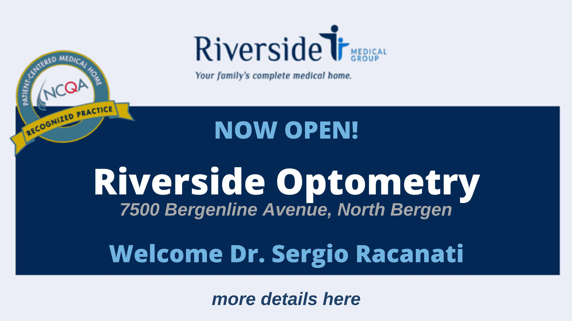 Riverside Optometry Now Open