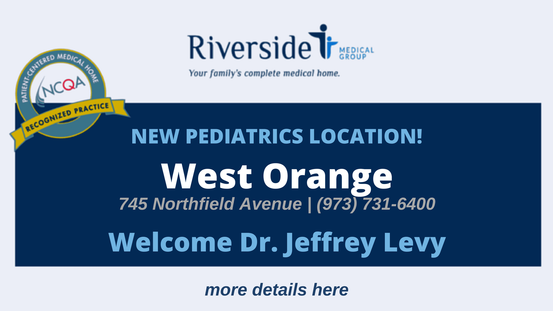 New Pediatrics Location in West Orange NJ
