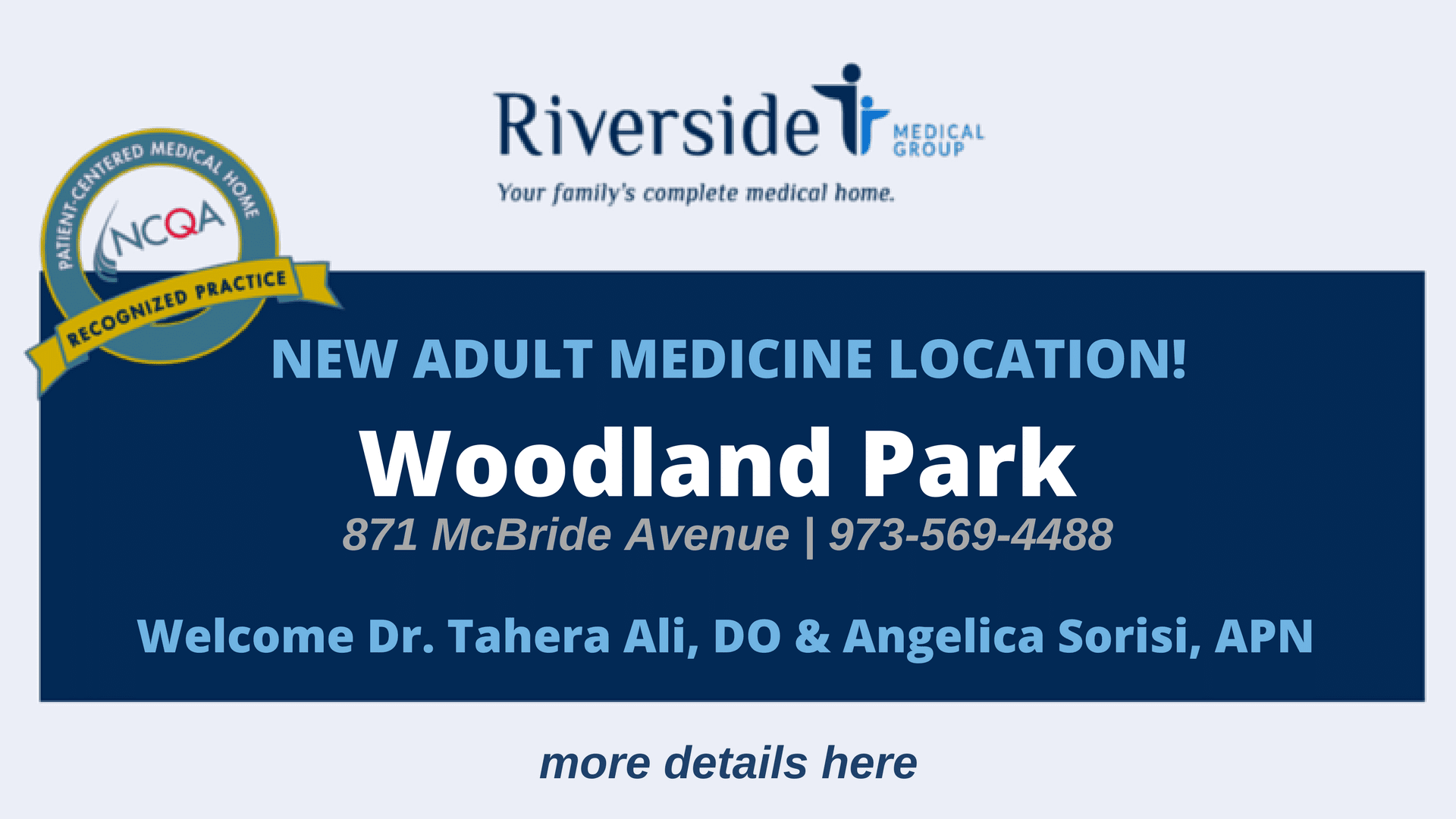 New Adult Medicine Location