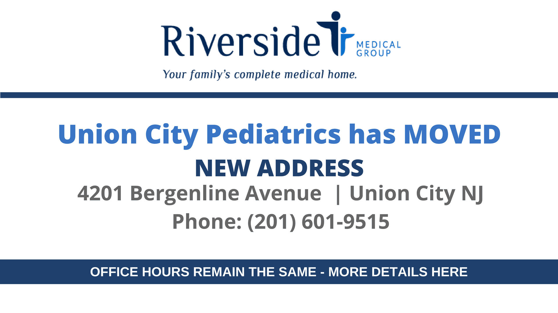 Union City Pediatrics Has Moved