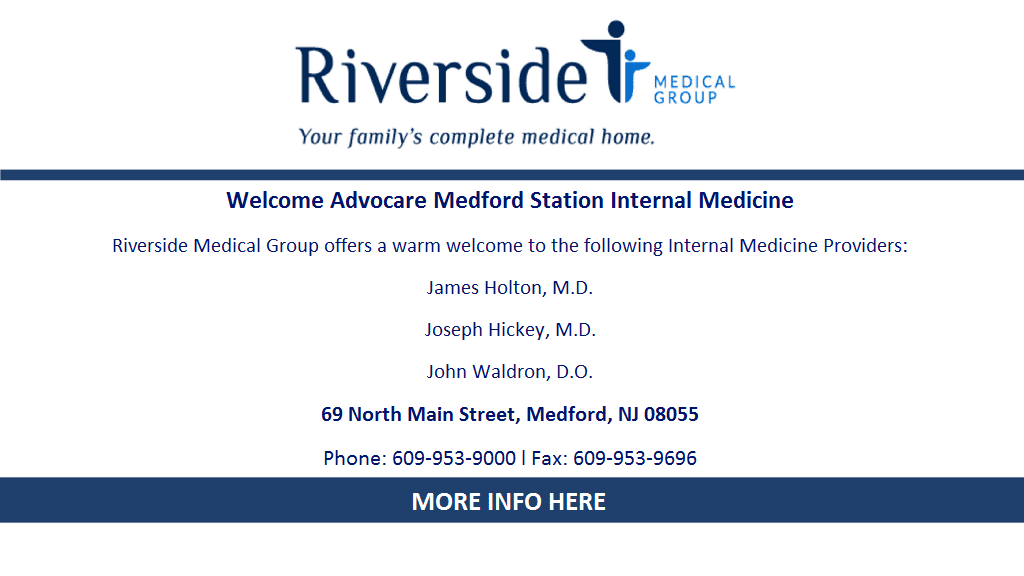 Welcome Advocare Medford Station Internal Medicine